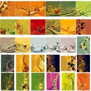 Link toExquisite floral background set art