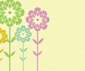 Flower shading card background vector set
