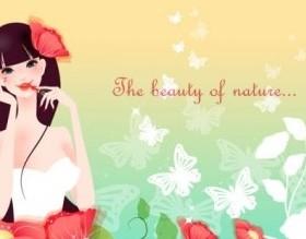 cartoon beauty Design Vector Background 03