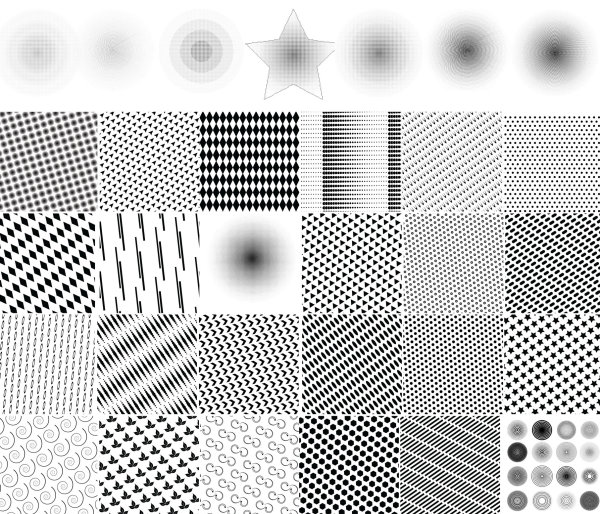Punctate pattern background
