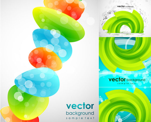 Fresh and creative background vector