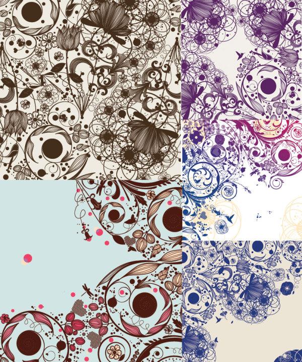 But decorative pattern background vector art
