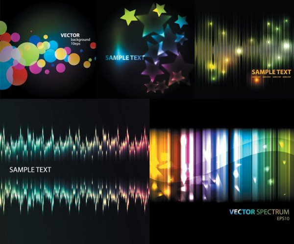 Abstract colored the light background vector material