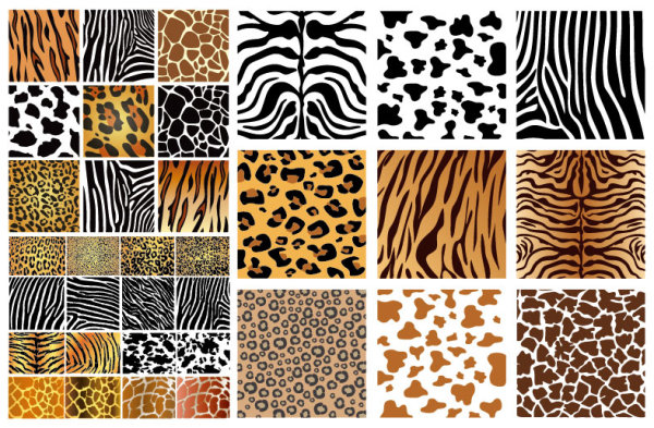 Animal texture background vector graphics