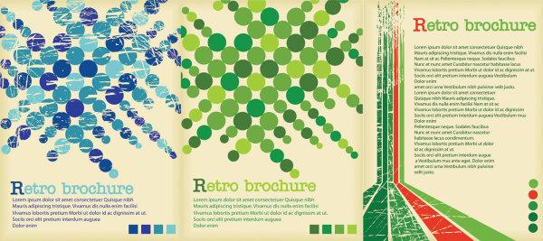 Retro poster background vector graphics
