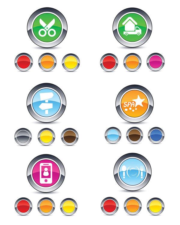 Smooth round webpage button design elements