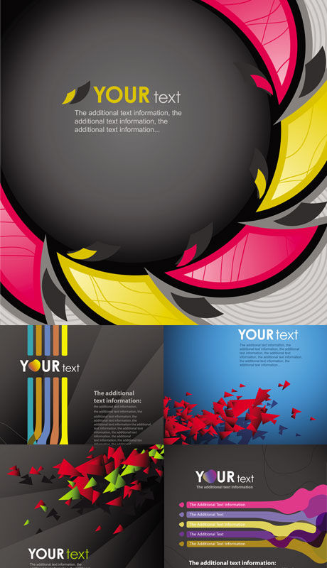 Various special background vector material