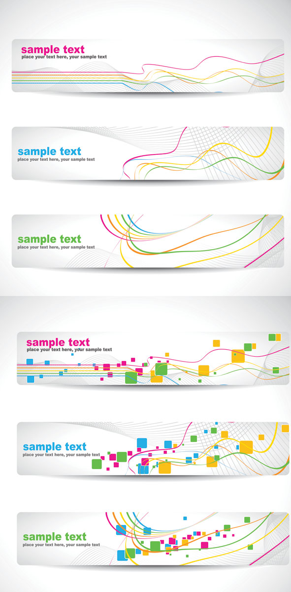 Dynamic lines banner vector graphic