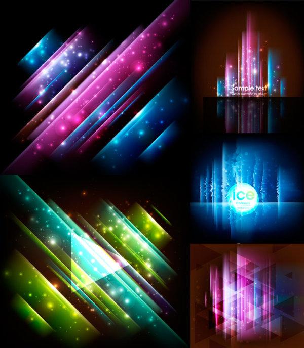 Fantasy background glare vector
