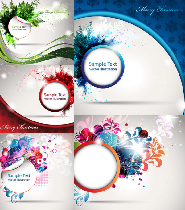 Splendid decorative pattern background vector graphics