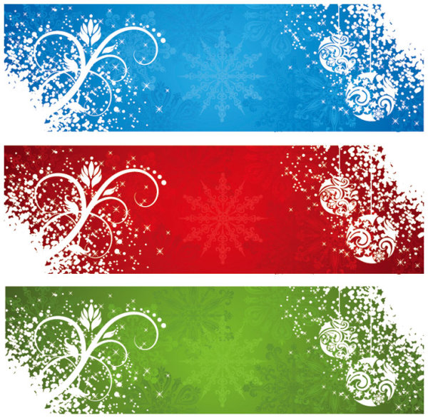 Beautiful snowflake banner