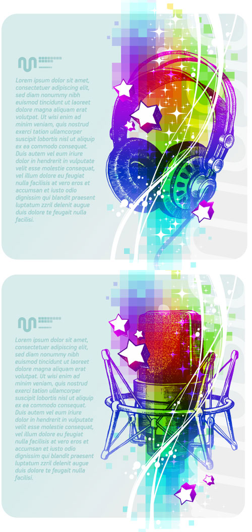 Music background vector material