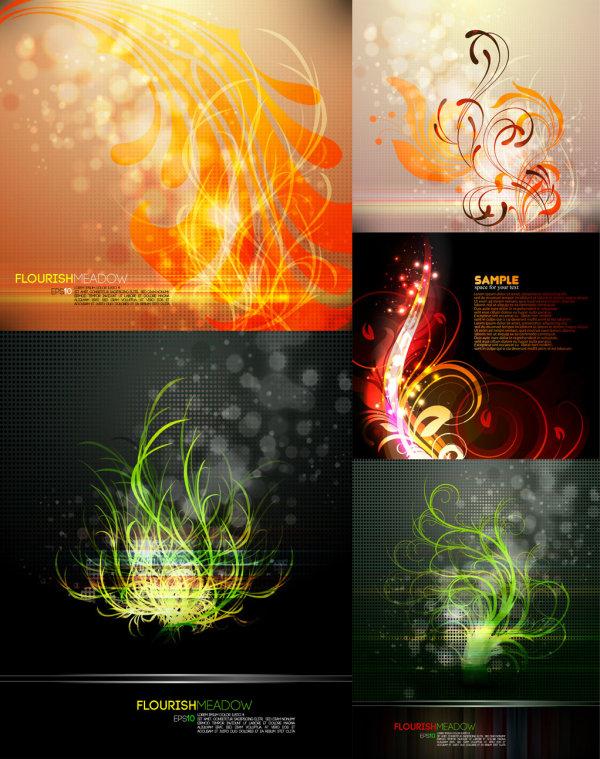 Splendid decorative pattern background vector