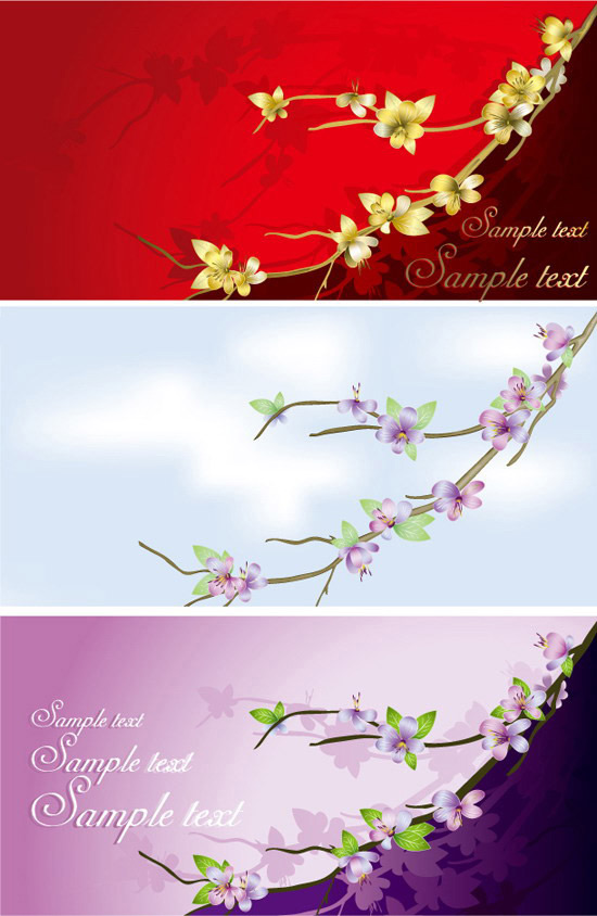 Flowers card template free download