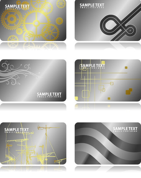Metal business card template free download