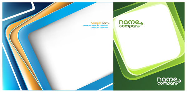 Box Business Card Template Vector Graphic
