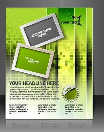 Stylish Brochure flyer design vector graphic 07 - Vector Cover ...