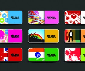Huge collection of Business card design vector art 02