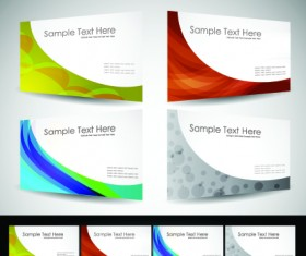 Huge collection of Business card design vector art 08
