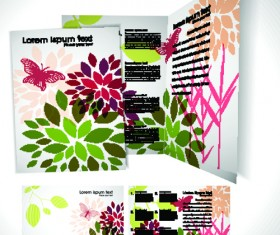 Cartoon style Brochure cover template vector 04