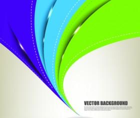Color wave vector background art 01