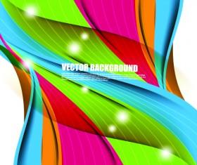 Color wave vector background art 02
