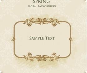 Floral Frames vector backgrounds set 04