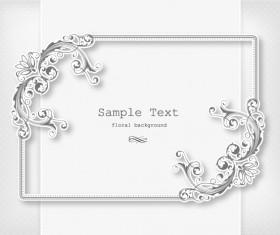 Floral Frames vector backgrounds set 07