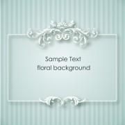 Link toFloral frames vector backgrounds set 08