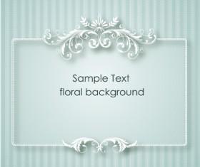 Floral Frames vector backgrounds set 08