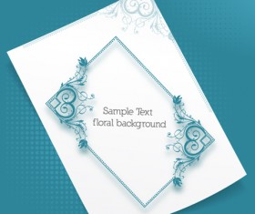 Floral Frames vector backgrounds set 23