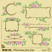 Link toVintage flower frame and border vector 02