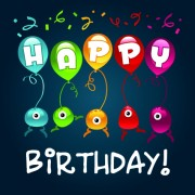 Link toHappy birthday balloons of greeting card vector 03
