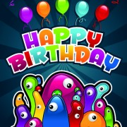 Link toHappy birthday balloons of greeting card vector 05