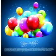 Link toHappy birthday balloons of greeting card vector 06