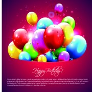 Link toHappy birthday balloons of greeting card vector 08