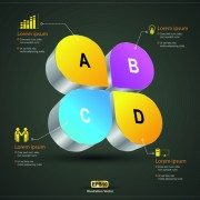 Link toCreative 3d infographic design vector 03