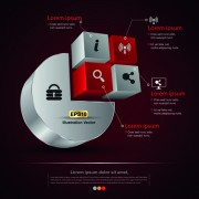 Link toCreative 3d infographic design vector 04