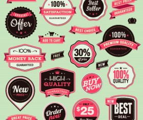 Vector Labels discounts sale set 03