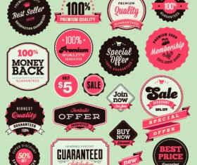 Vector Labels discounts sale set 04