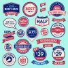 Vector Labels discounts sale set 05
