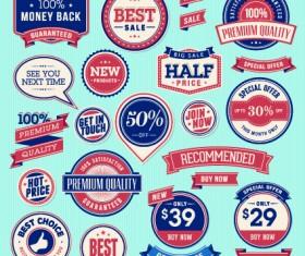 Vector Labels discounts sale set 05