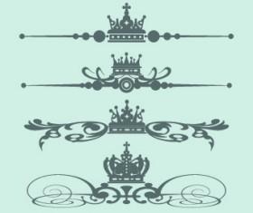 Royal crown decor vector 02