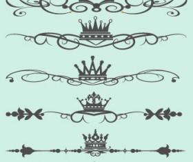 Royal crown decor vector 03