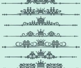 Royal crown decor vector 04