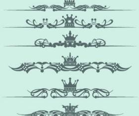 Royal crown decor vector 05