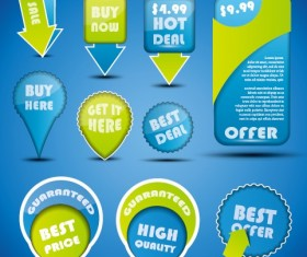 Special offer sale labels stickers vector 02