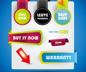 Special offer sale labels stickers vector 03