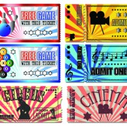 Link toTickets to the movie theater design elements vector 03