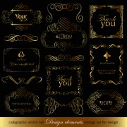 Link toLuxurious golden ornaments elements 01